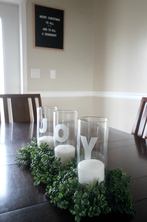 Etched Glass Centerpiece