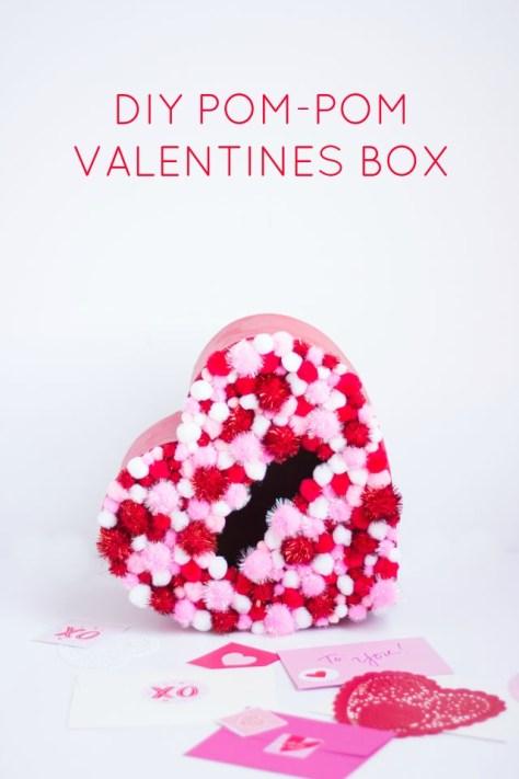 Pom Pom Valentine Card Box