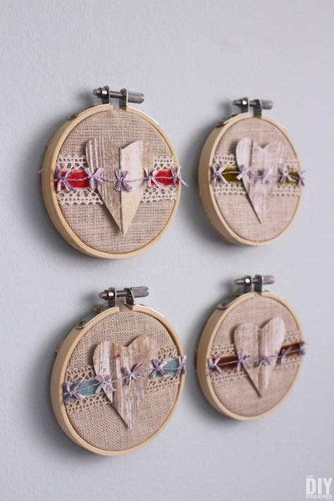 Embroidery Hoop Valentine Art