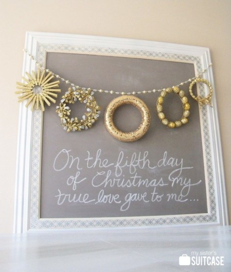 Five Gold Rings Christmas Wreaths