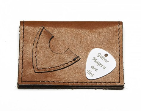 Personalized Leather Credit Card Pouch