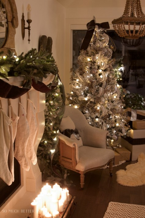 Living Room Decoration with Twinkling Lights