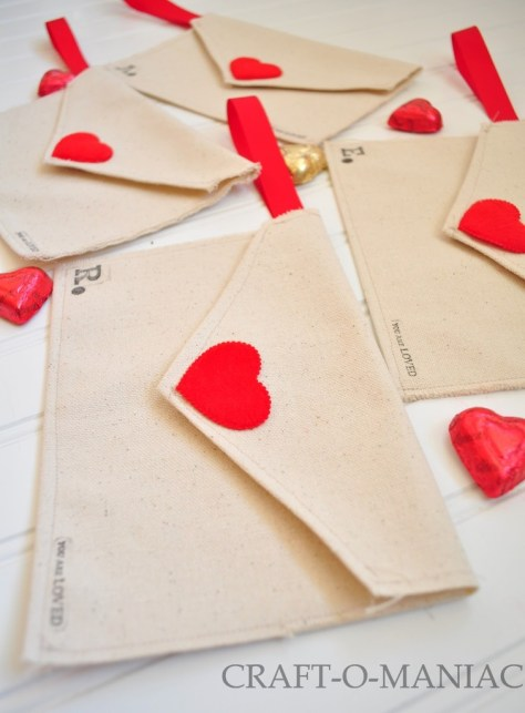 Fabric Envelopes Filled With Candies