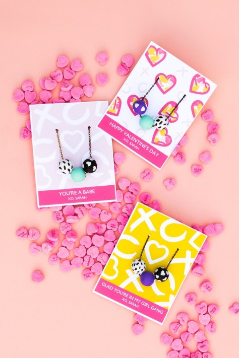 Valentines Day Necklace Cards