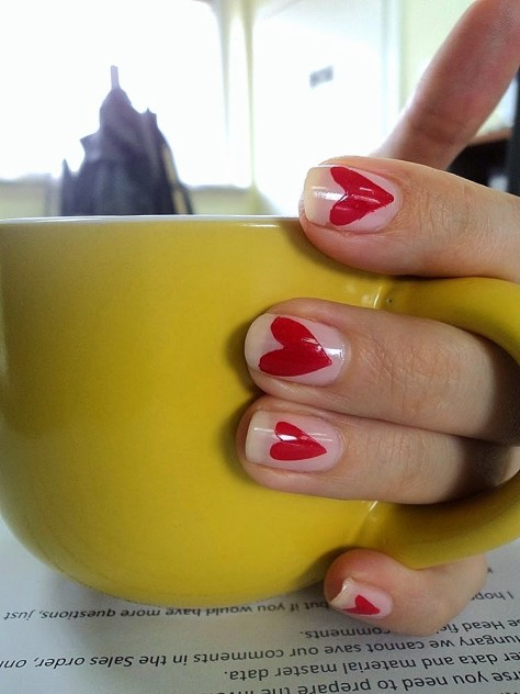 Heart Everywhere Nails