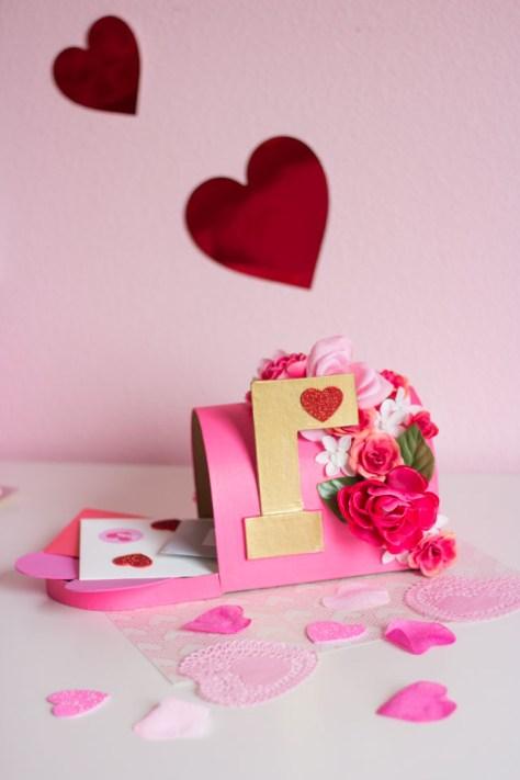 Floral Valentine Mailbox