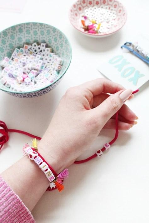 Beaded Valentine Bracelets