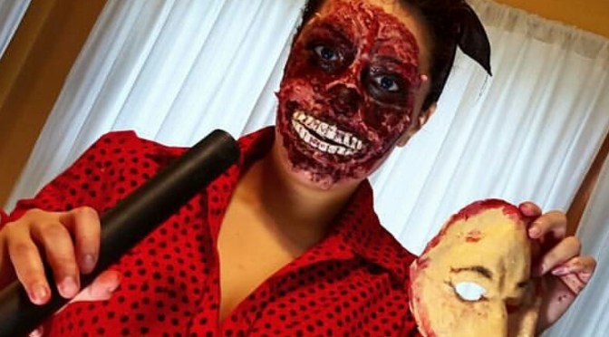 Face Ripped off Halloween Makeup