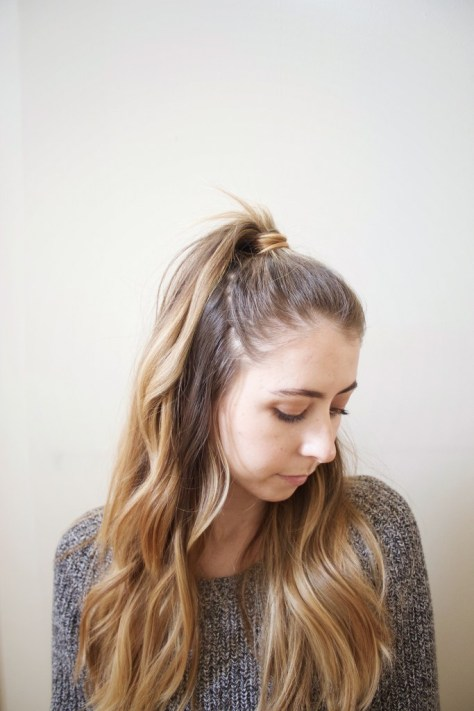 Girly and Textured Half Up Hair