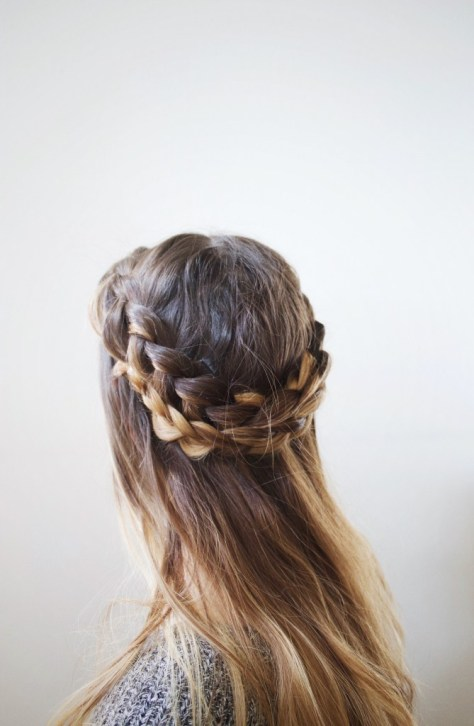 Messy Faux Half Halo Braid