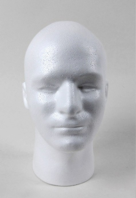 Styrofoam Head Wig Mask