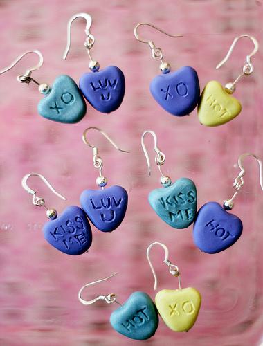 Heart Earrings from Clay