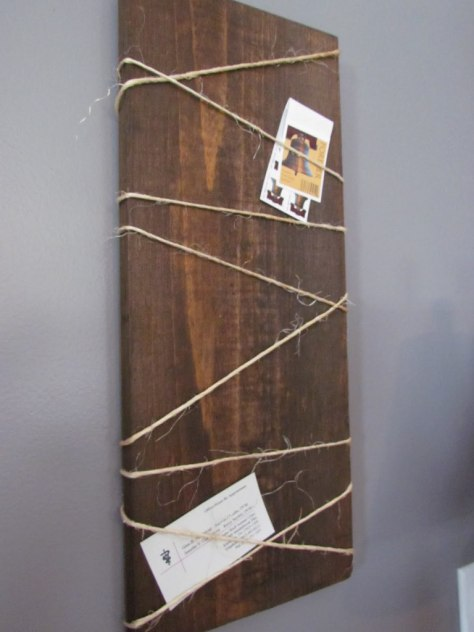 Wood Hanging Note Board