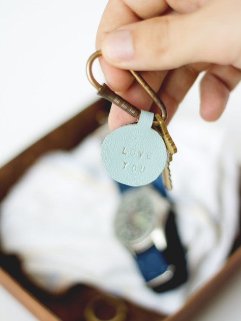 Personalized Leather Keychains