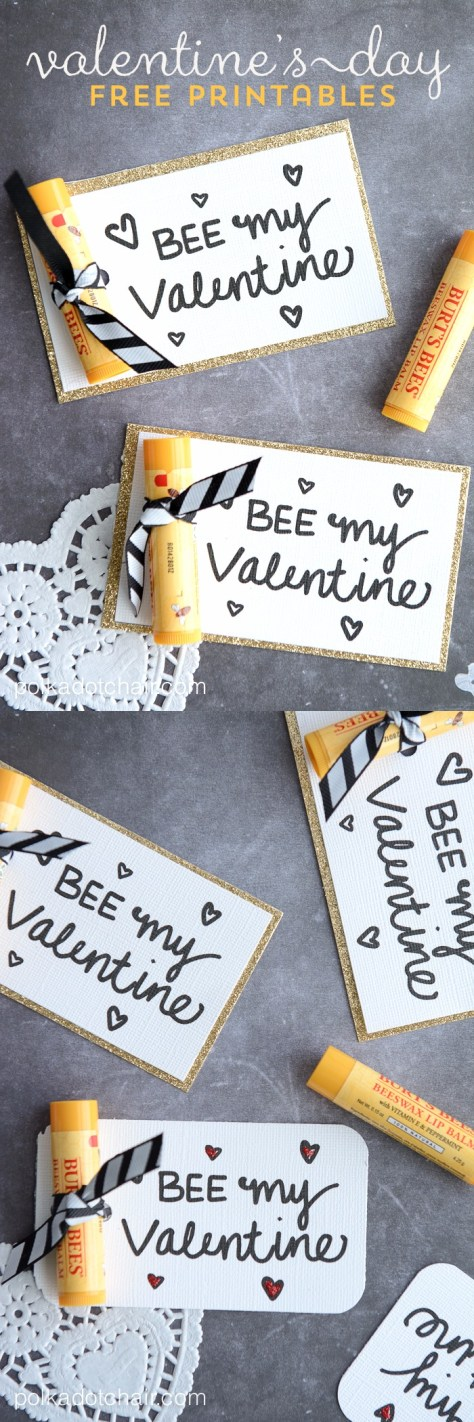 Bee My Valentine Printables