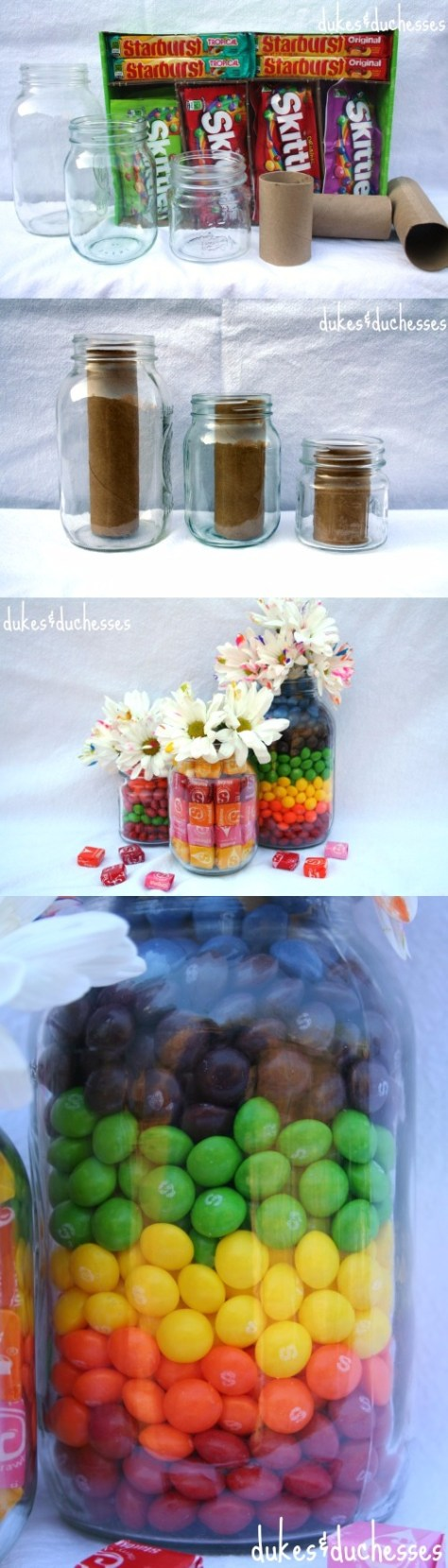 Candy Filled Mason Jar Tutorial