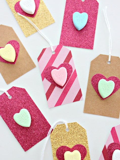 Conversation Heart Gift Tags