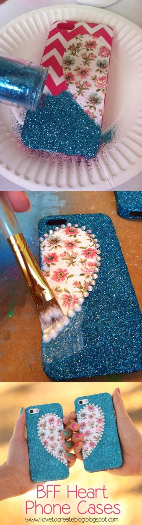 DIY BFF Heart Matching Phone Cases
