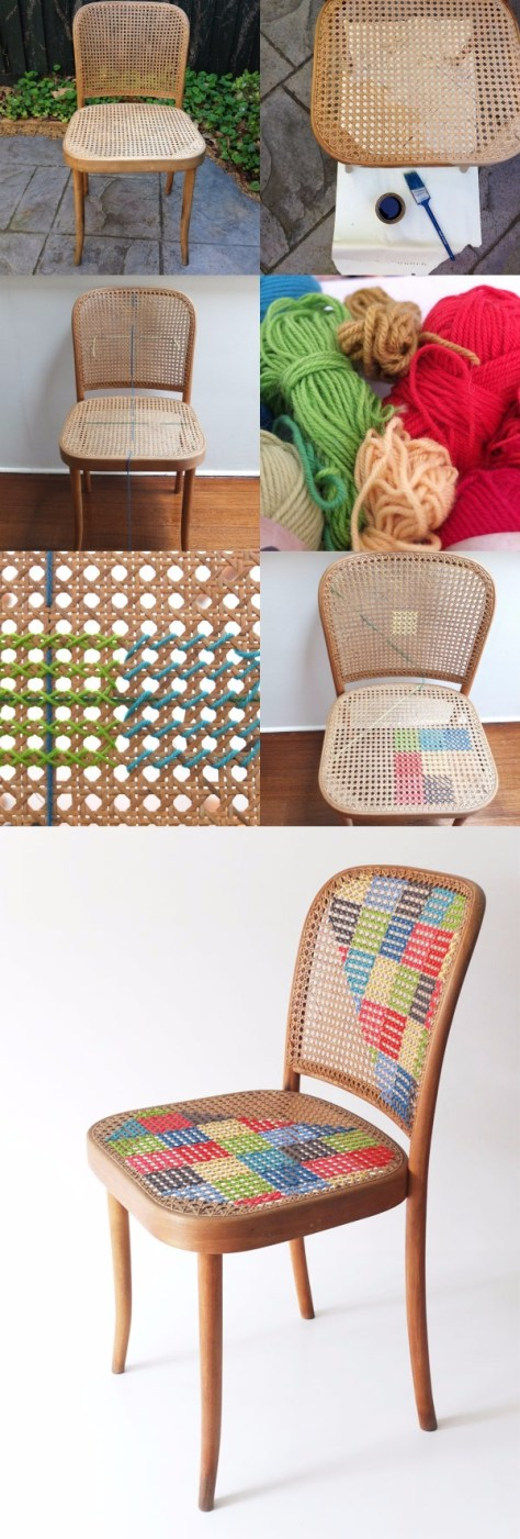 DIY Cross Stitch Chair