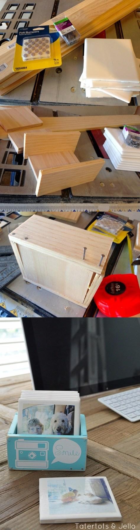 DIY Instagram Coasters in Wooden Box