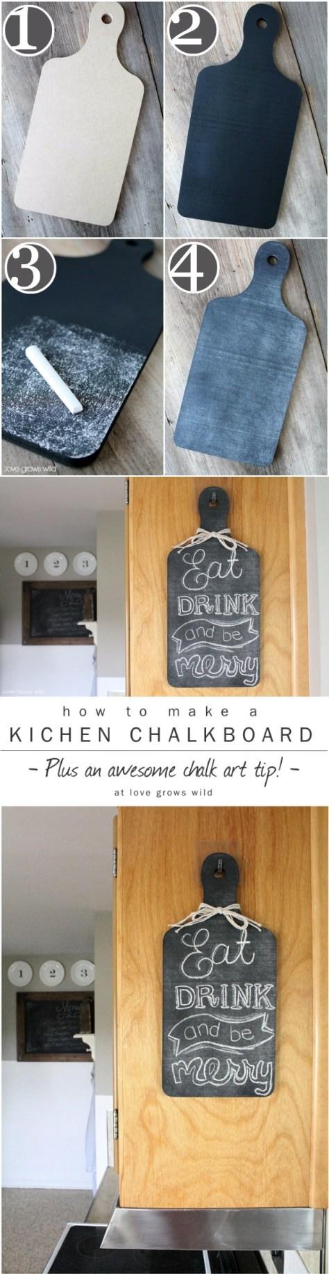 DIY Kitchen Chalkboard