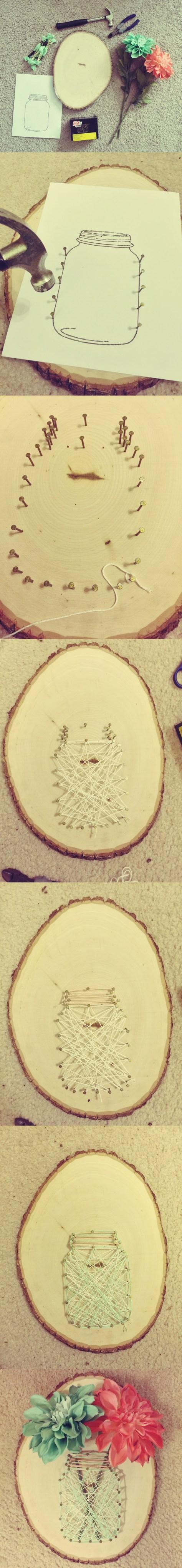 DIY Mason Jar String Art