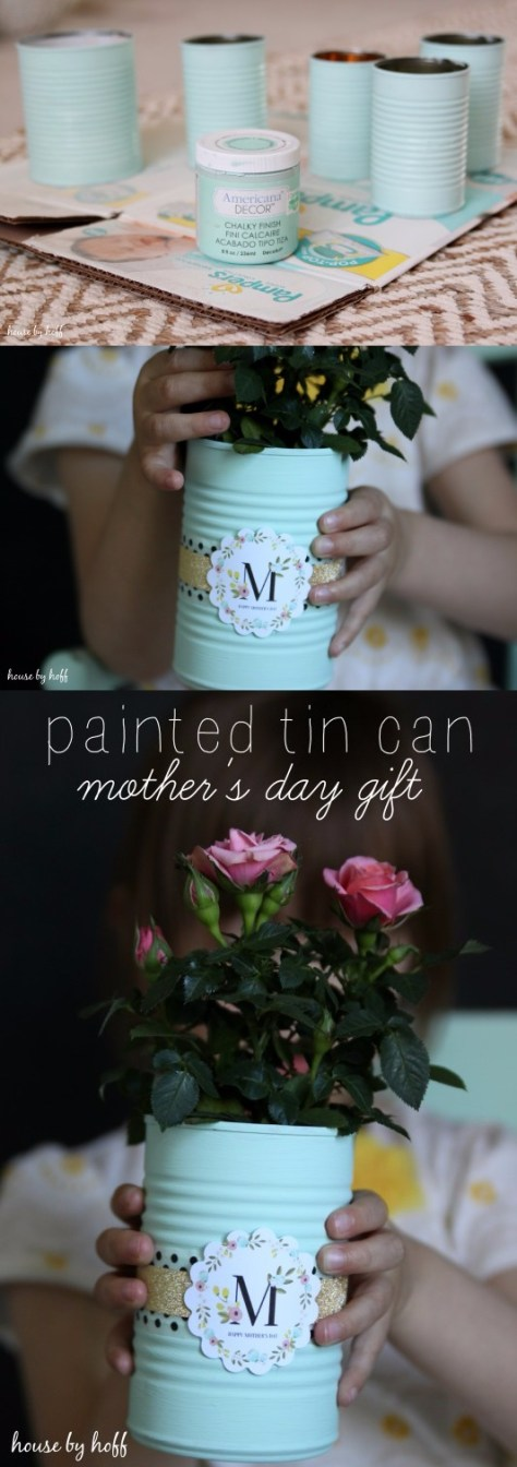 DIY Painted Tin Cans