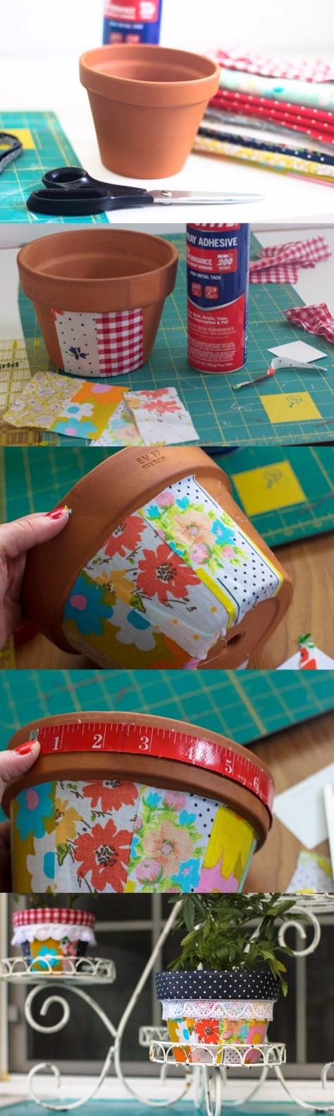 DIY Patchwork Pots