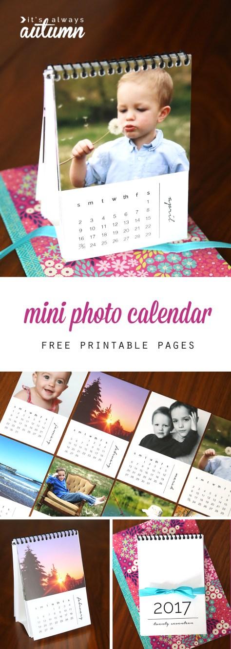 DIY Personalized Mini Photo Calendar