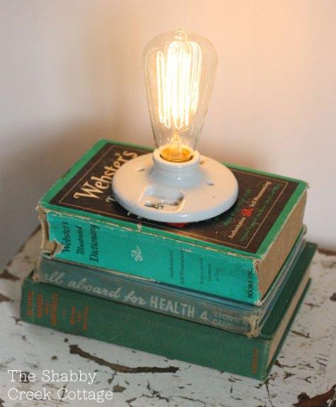 Edison Style Book Lamp