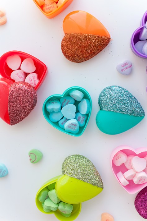 Glitter Heart Candy Boxes
