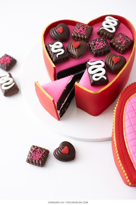 Heart Candy Box Cake