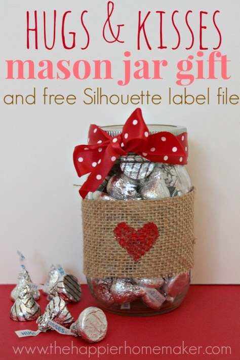 Hugs And Kisses Mason Jar Gift