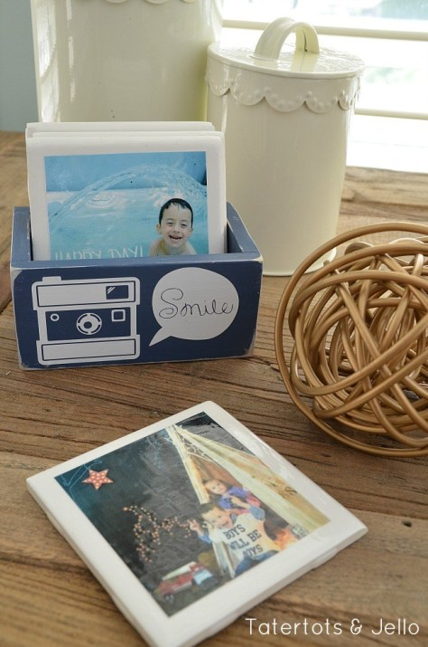 Instagram Coasters in Wooden Box