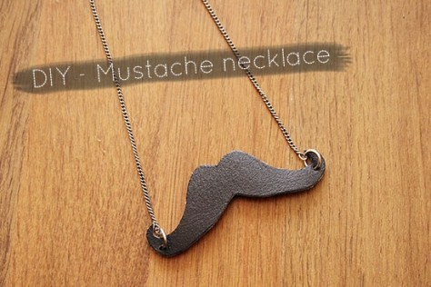 Leather Mustache Necklace