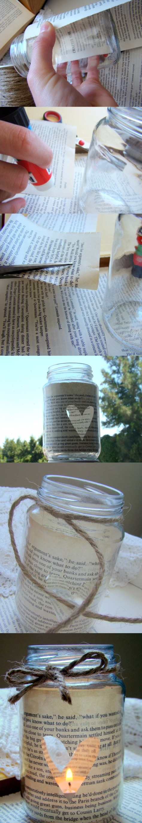 Love Story Candle In A Jar Tutorial