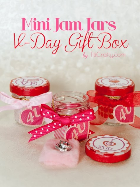Mini Jam Jars Valentines Day Gift
