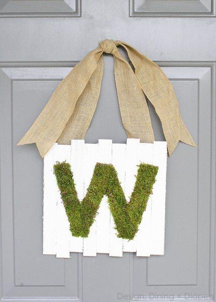 Moss Monogram Door Sign