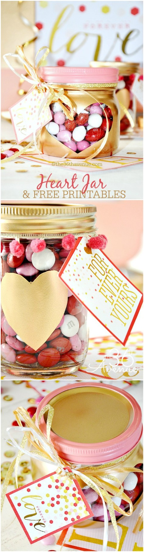 Valentines Day Gifts Heart Jars Tutorial