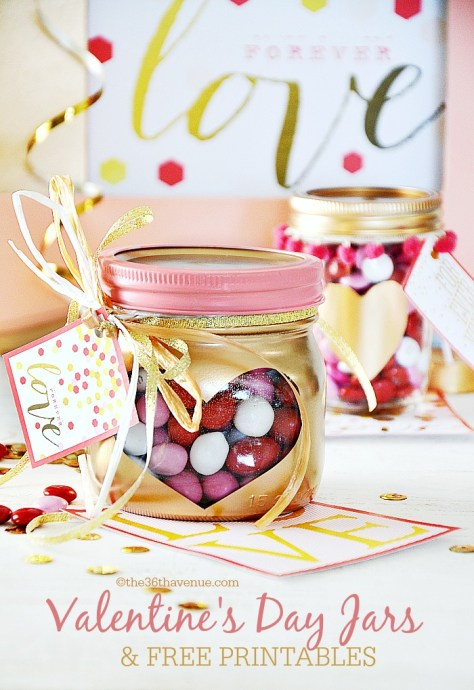 Valentines Day Gifts Heart Jars