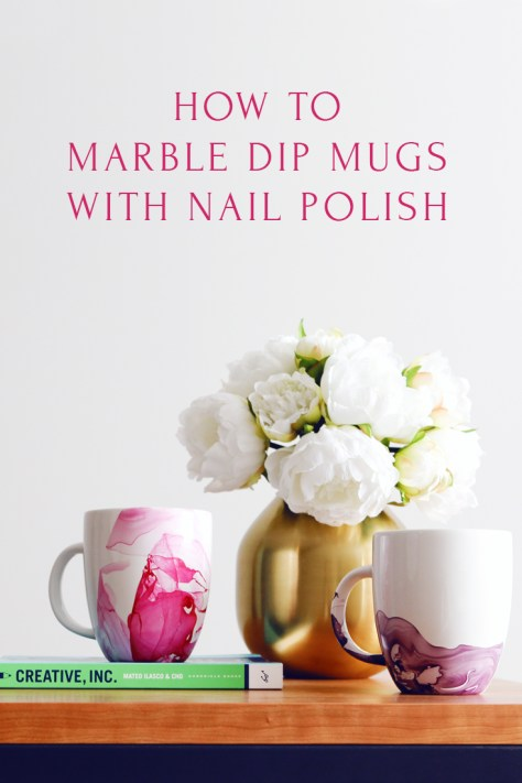 Watercolor Marble Dipped Mug