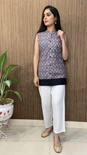 Grey Short Kurta