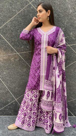 Purple Sharara Suit