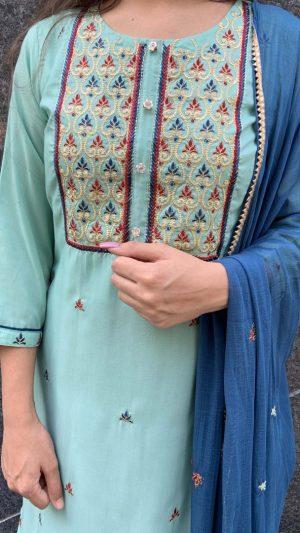 Blue Muslin Suit
