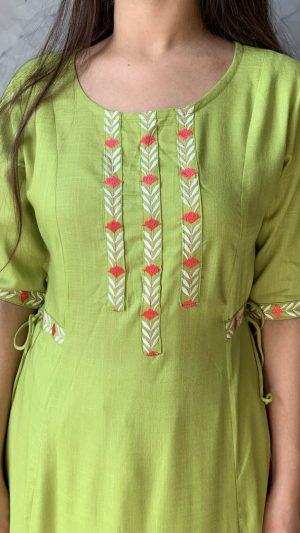 Green Long Kurta