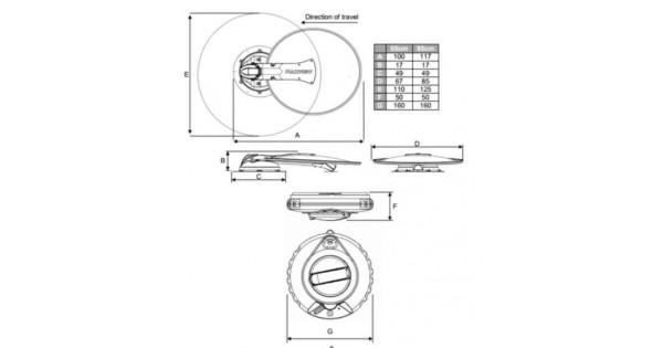 Maxview manual crank up satalie system, 65 cm single