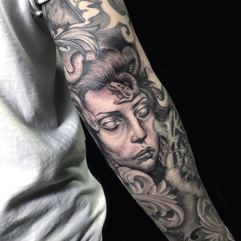 The versatile tattoos of Filipno artist Jhay Colis
