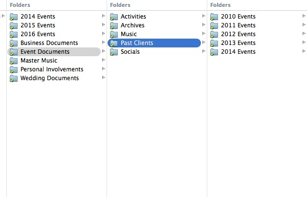 7_Event and Past Clients Folder Structure