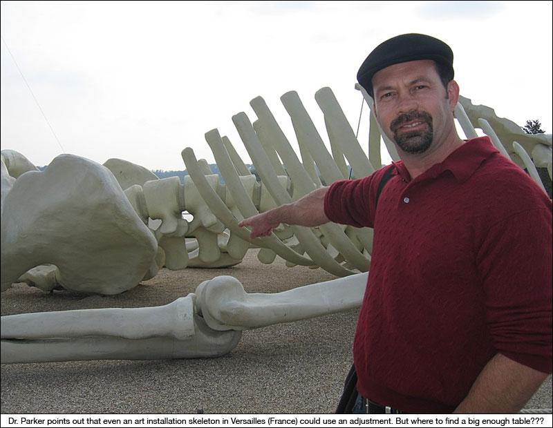 Dr. Kevin Parker visiting Versailles, France