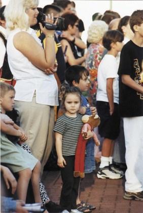 little girl in crowdtn